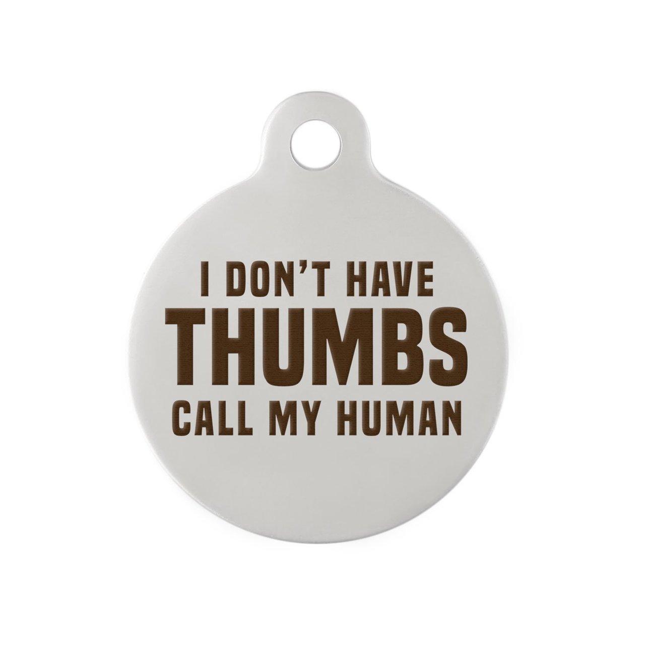 Signature Call My Human Dog ID Tag