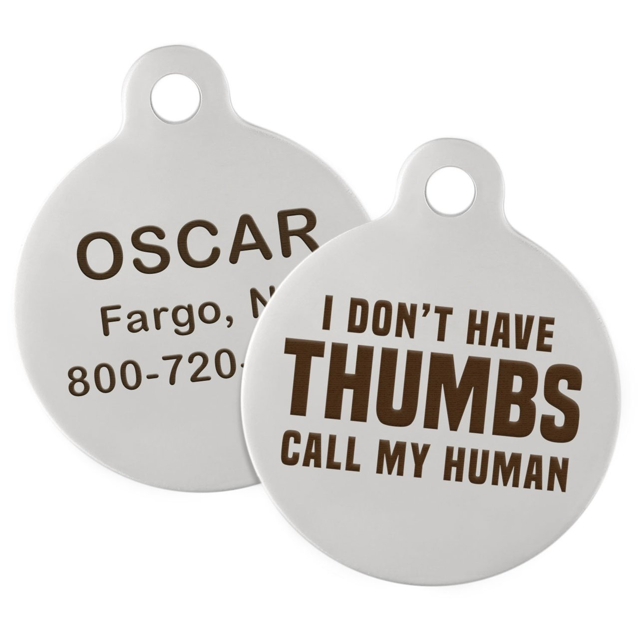 Signature Call My Human Dog ID Tag