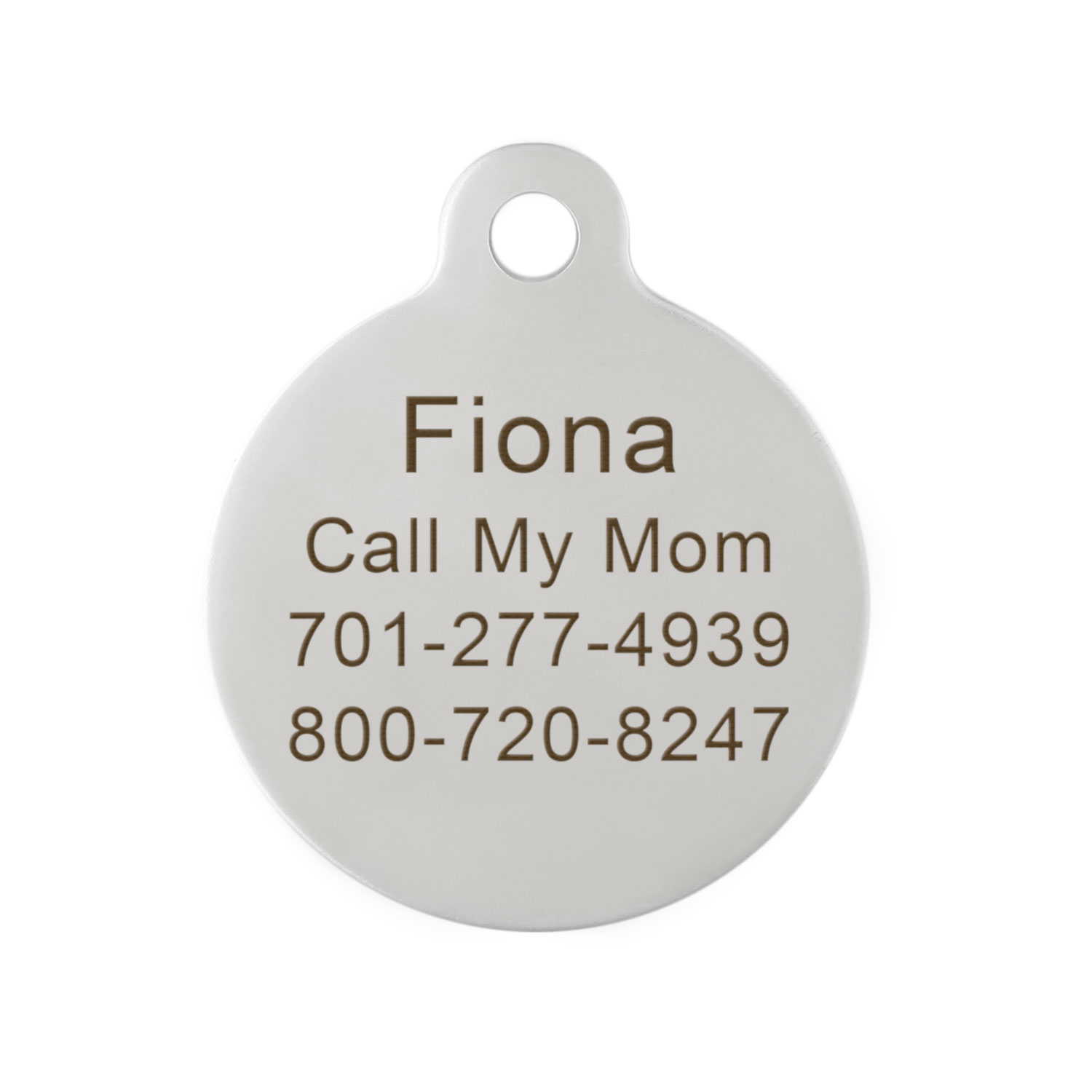 Signature Call My Human Dog ID Tag Engraving on Back
