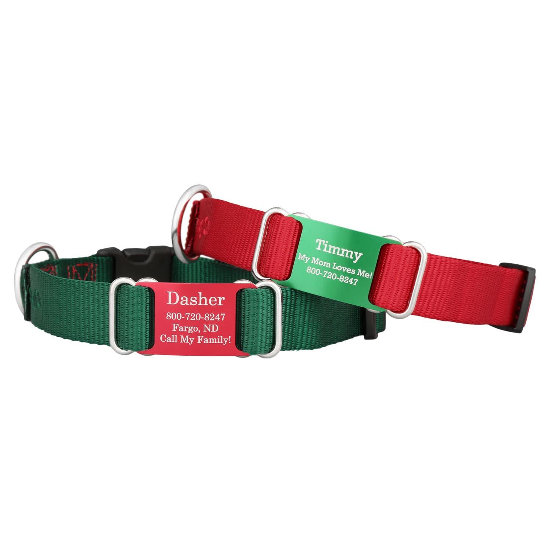 Holiday Nylon ScruffTag Personalized Dog Collars