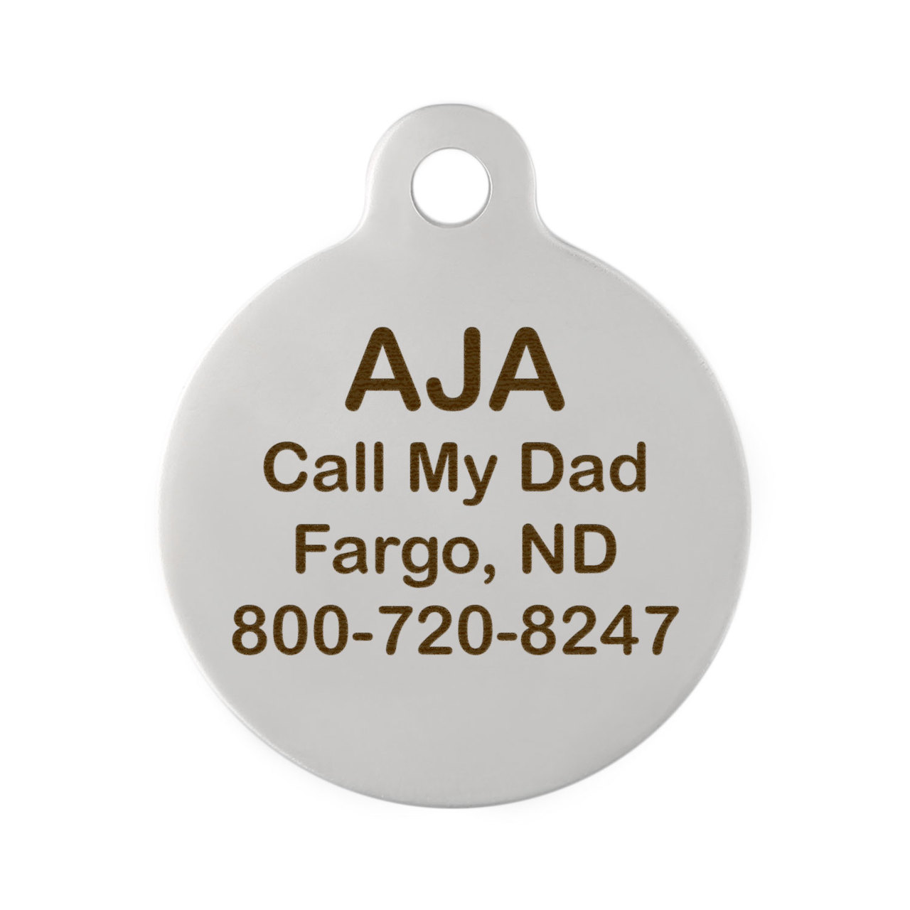 Arrow Design Dog Tag - Back on Stainless Steel