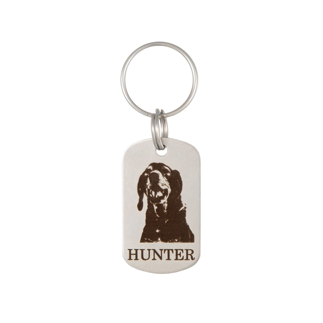 Custom Pet Photo Engraved Keychain - Vertical Option