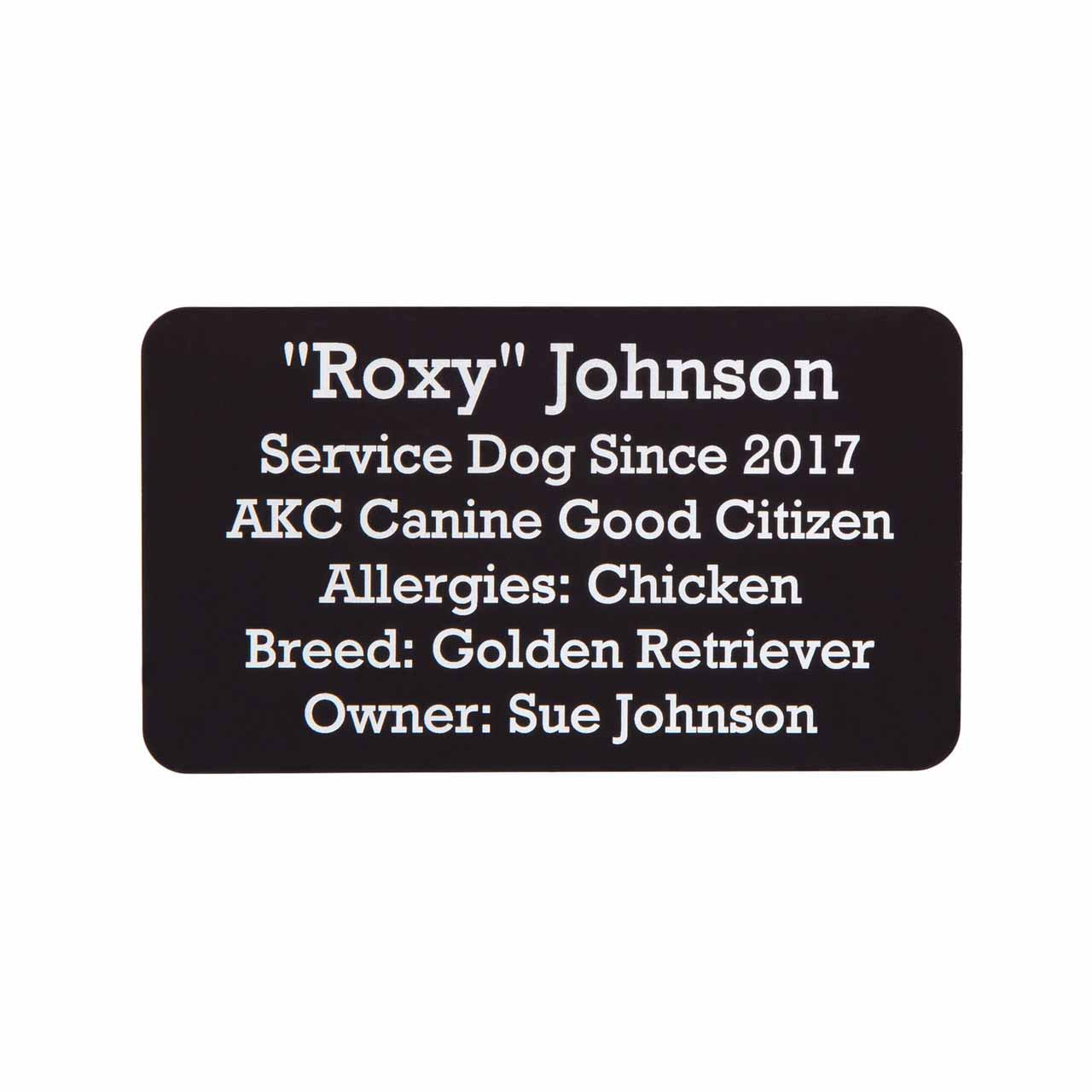 Metal Pet ID Card - Engraving