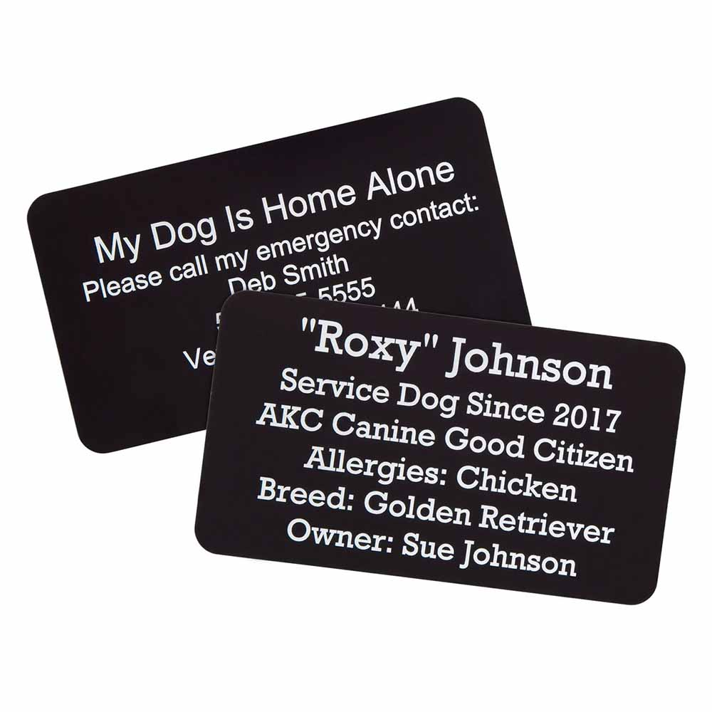 Metal Pet ID Card