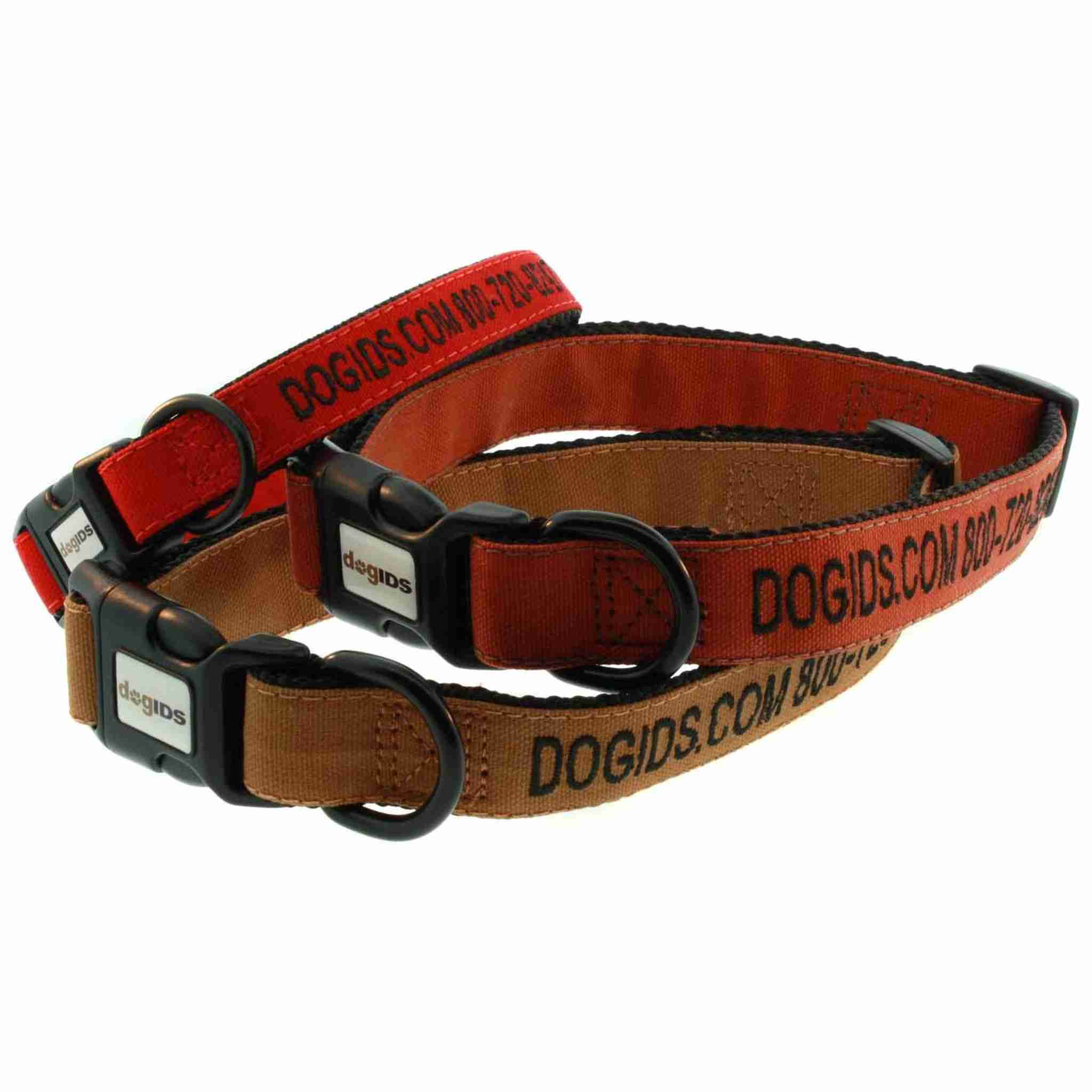 Embroidered Canvas Dog Collars