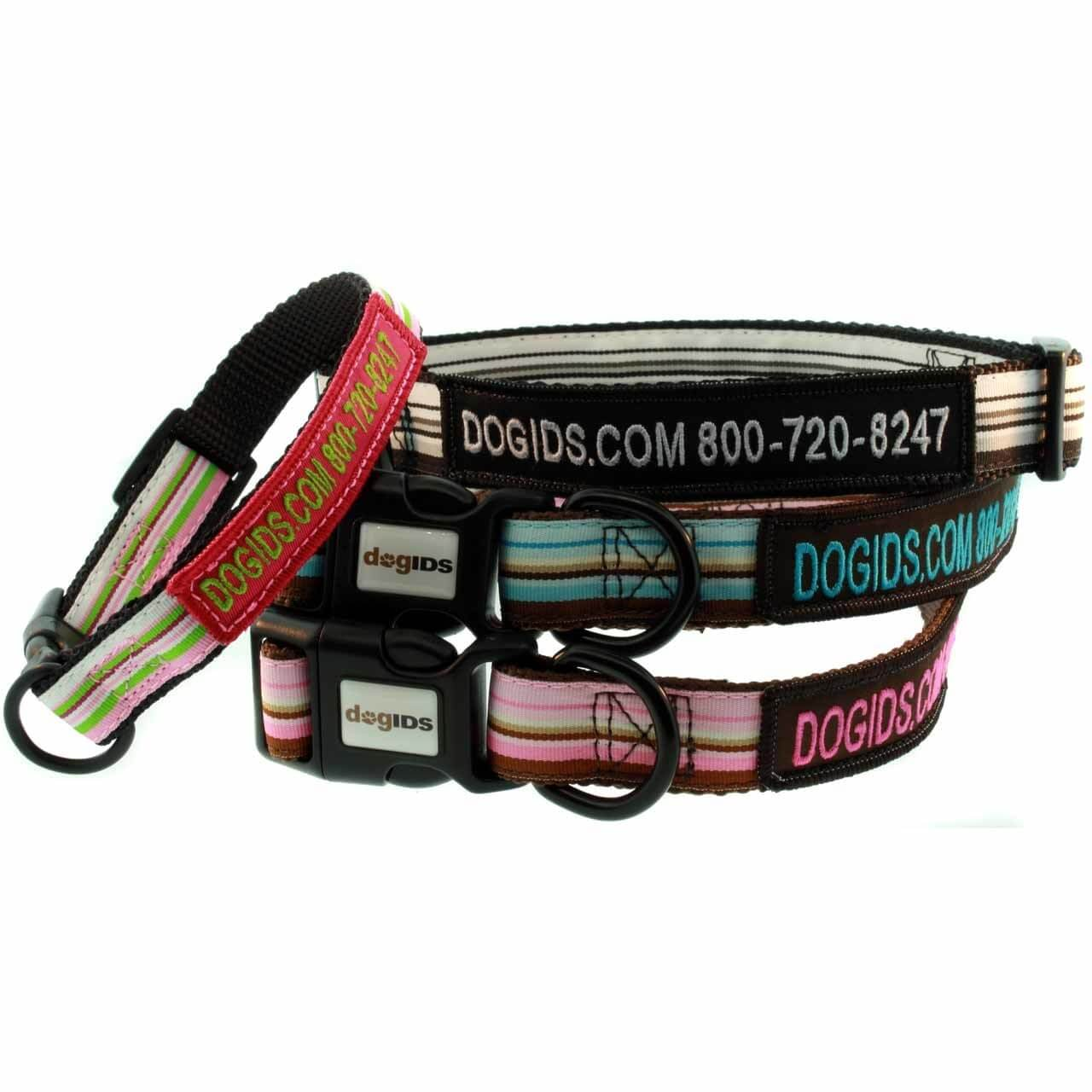 Embroidered Striped Dog Collar