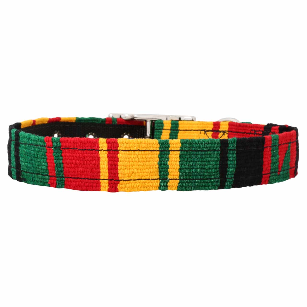 MAYA Buckle Dog Collar - Rasta