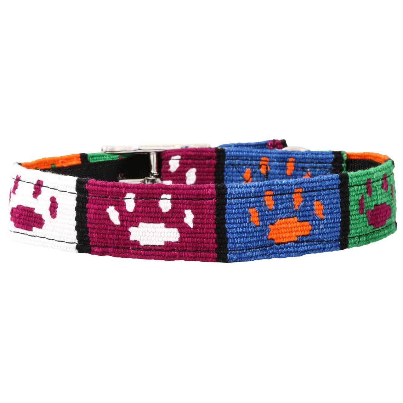 MAYA Buckle Dog Collar - Paw Prints