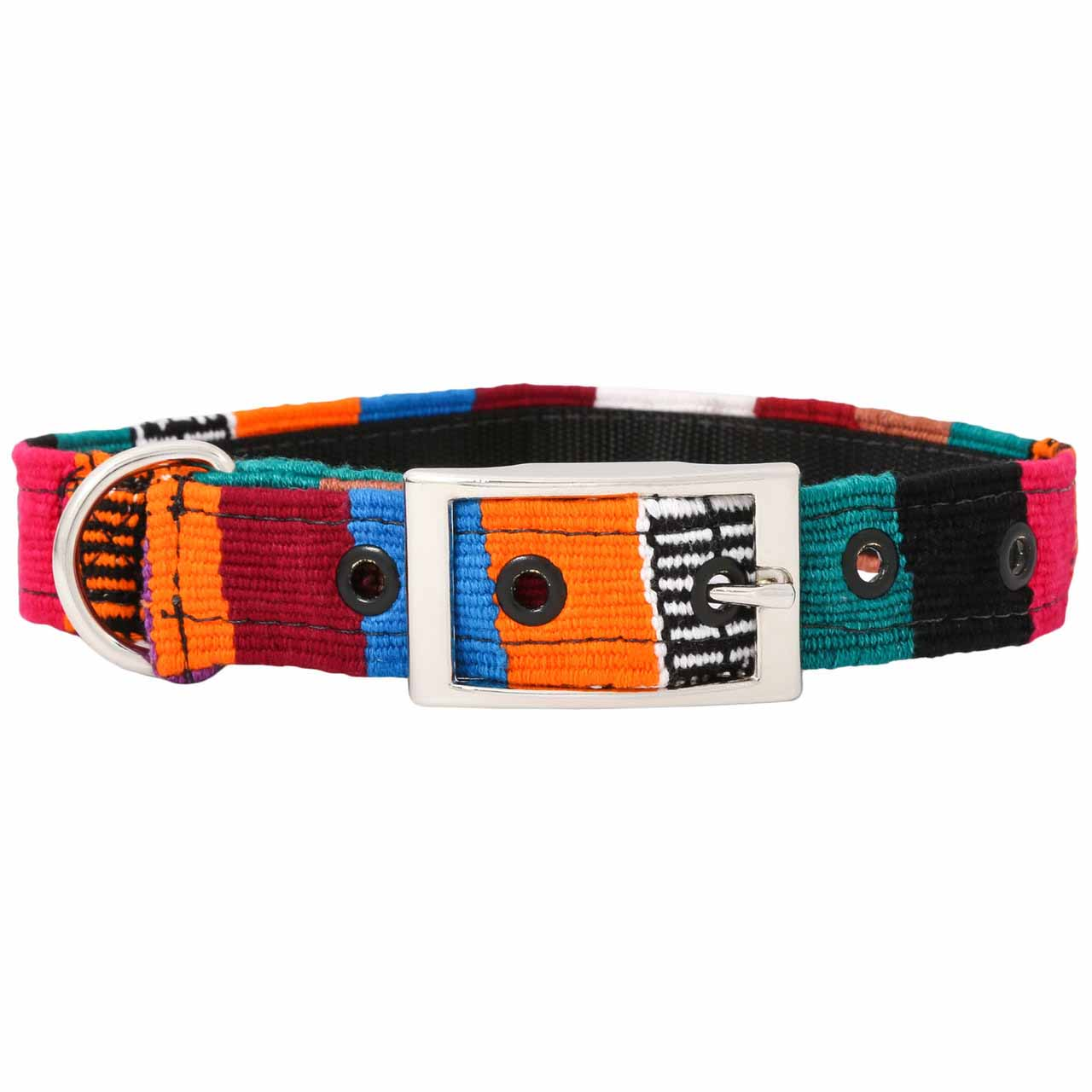 MAYA Buckle Dog Collar - Backside of Multi 2