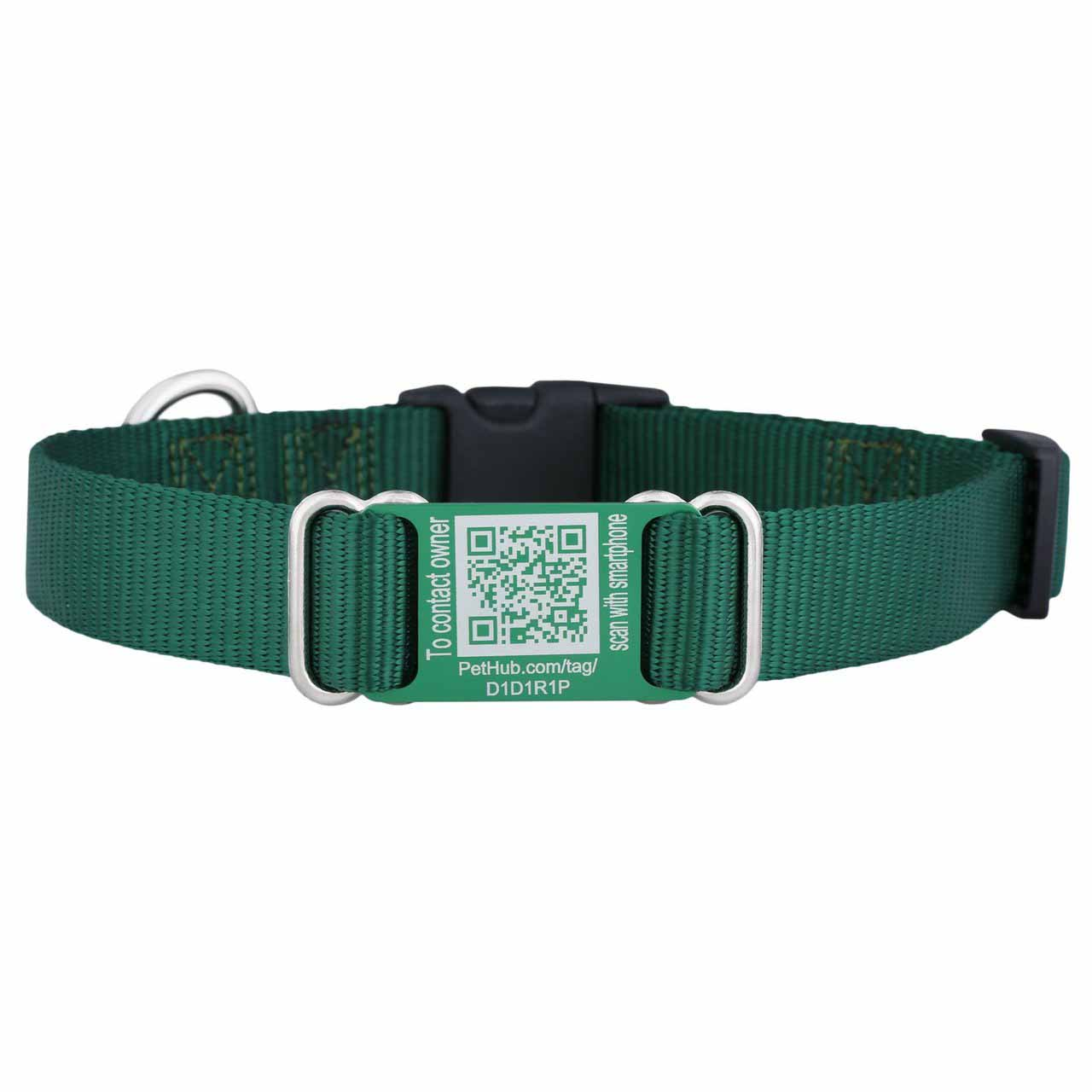 Nylon QR Code ScruffTag Personalized Dog Collars