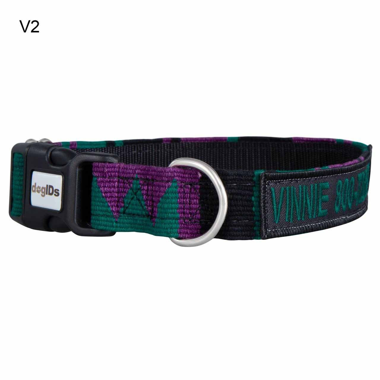 Embroidered Maya Personalized Dog Collar V2