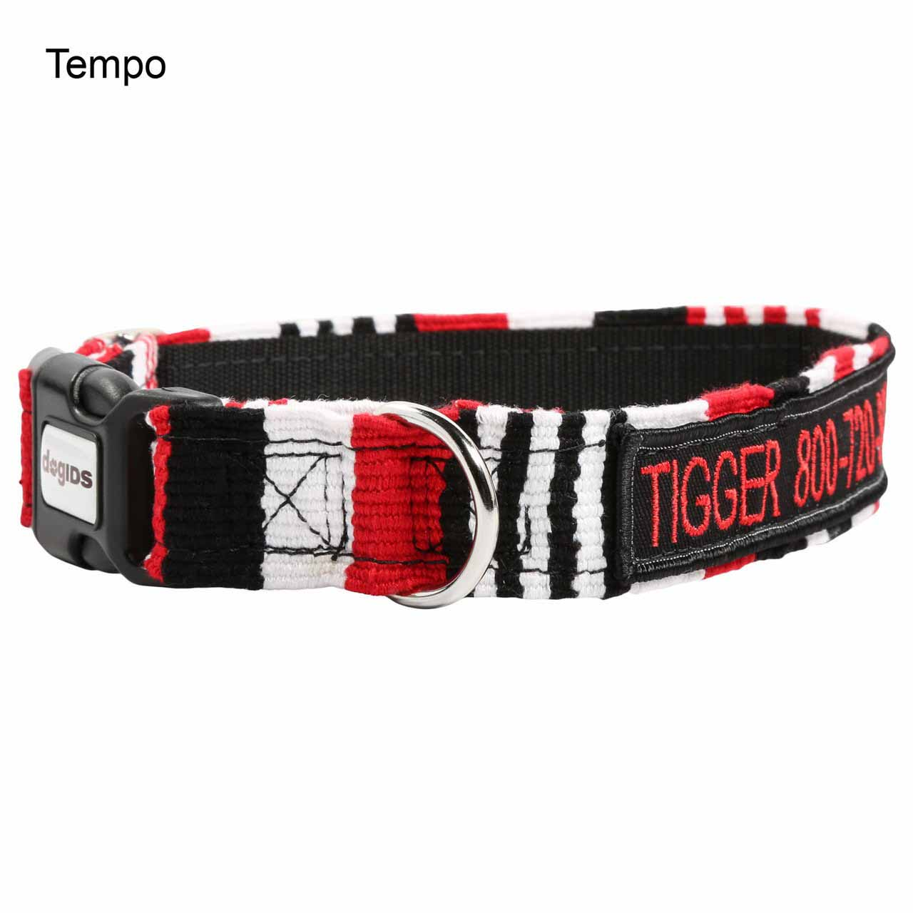 Embroidered Maya Personalized Dog Collar Tempo