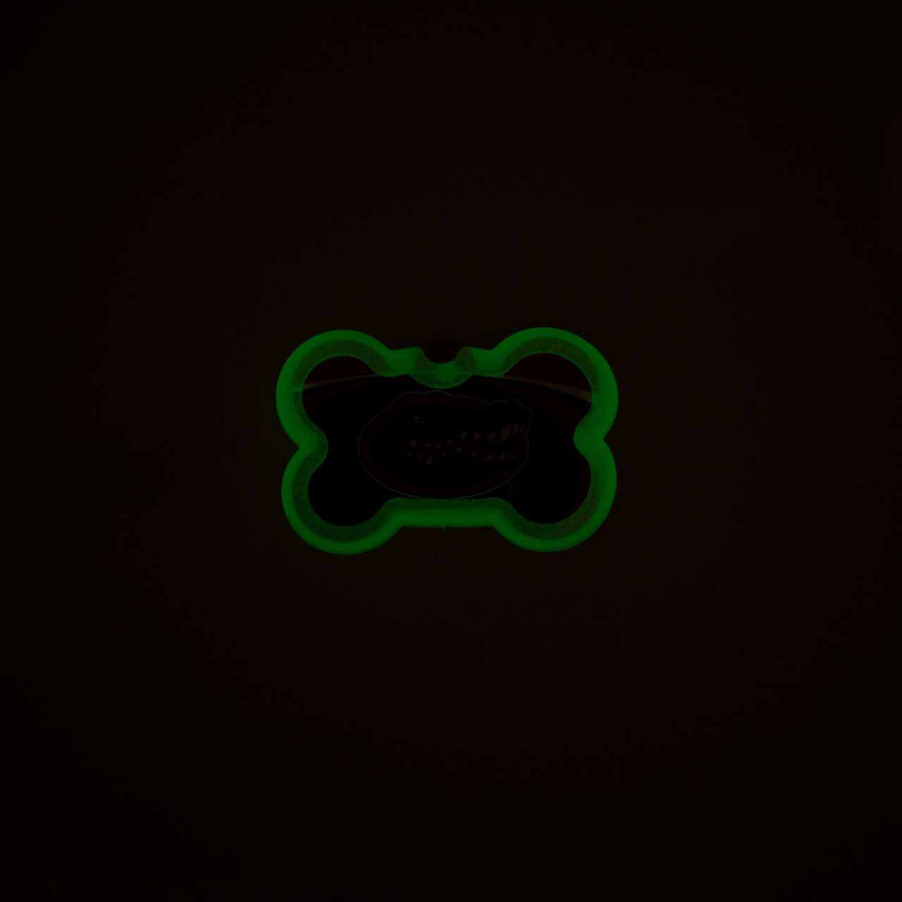 Glow in the Dark Pet Tag Silencer Bone in Dark