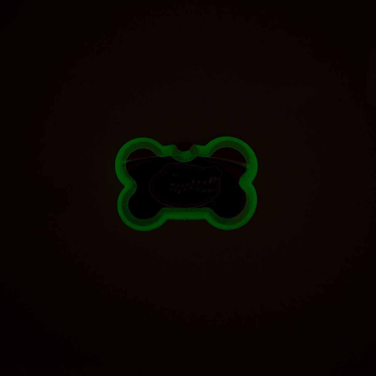 Glow in the Dark Pet Tag Silencer Bone in Dark