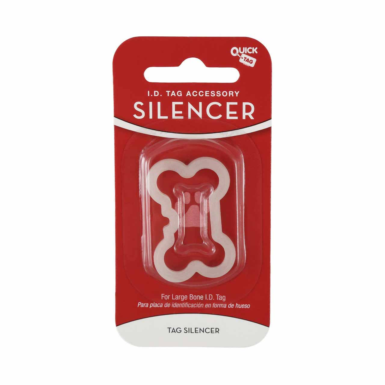 Glow in the Dark Pet Tag Silencer Bone Large