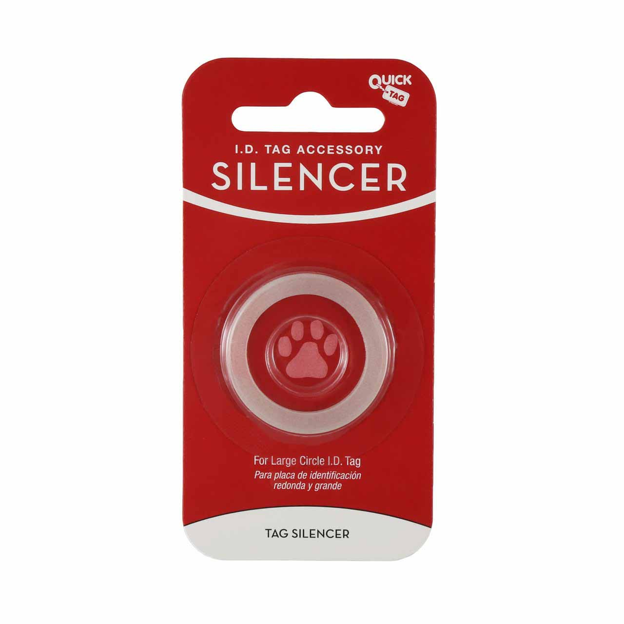 Glow in the Dark Pet Tag Silencer Round Large