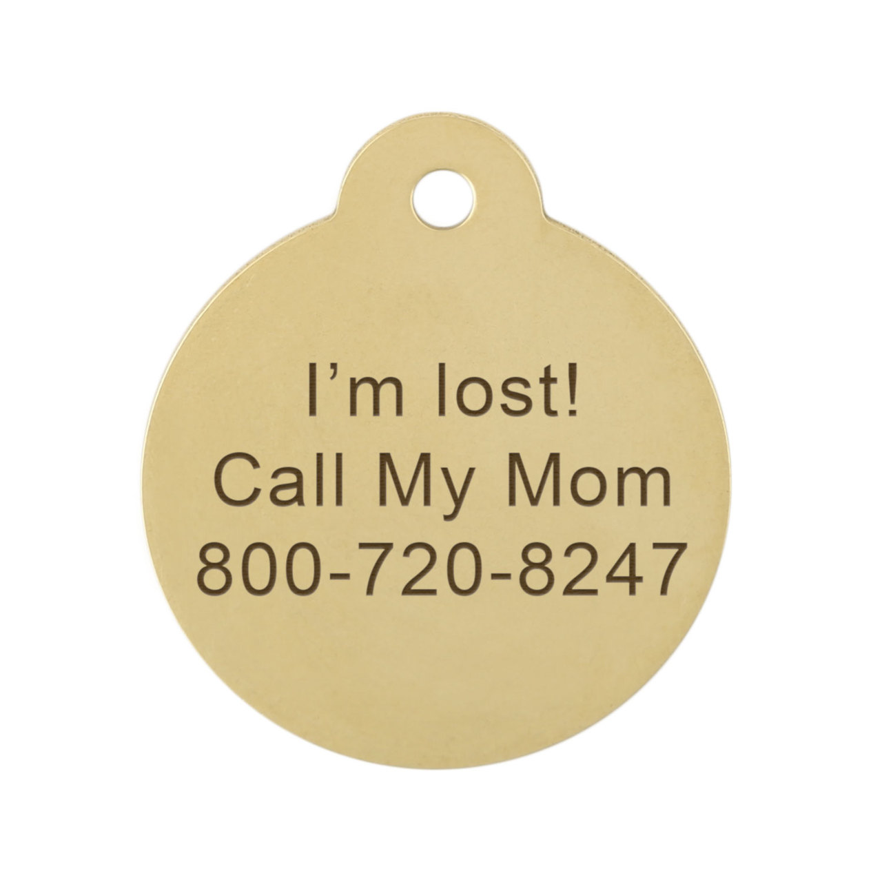 Cross Dog ID Tag Engraving on Back