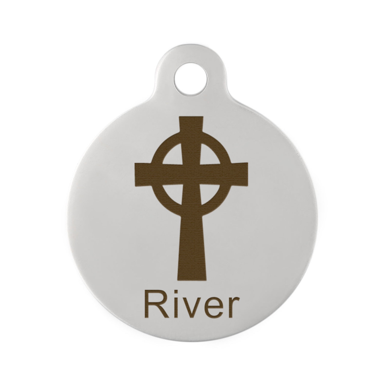 Cross Dog ID Tag Stainless Steel