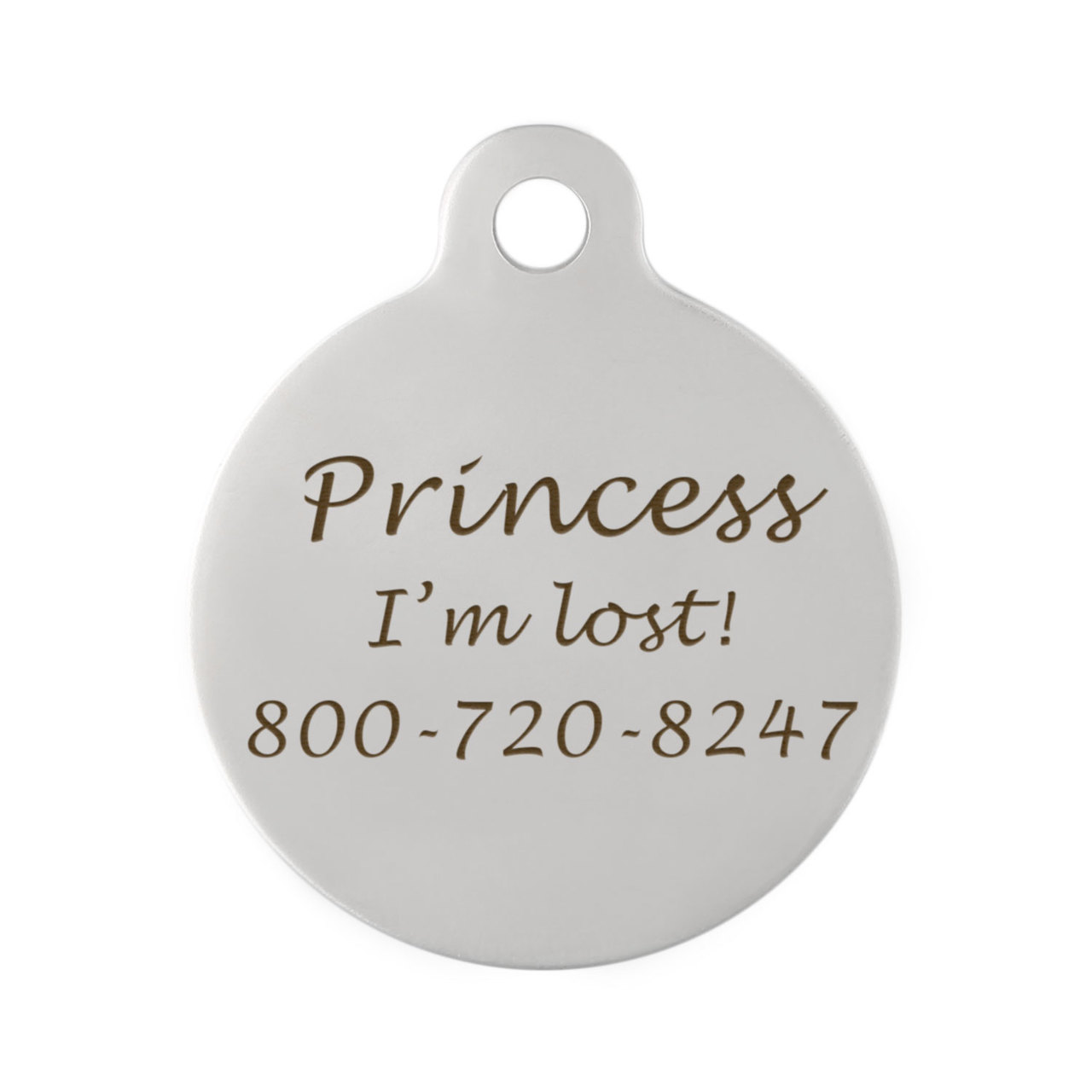 Crown Dog ID Tags - Engraving on Back