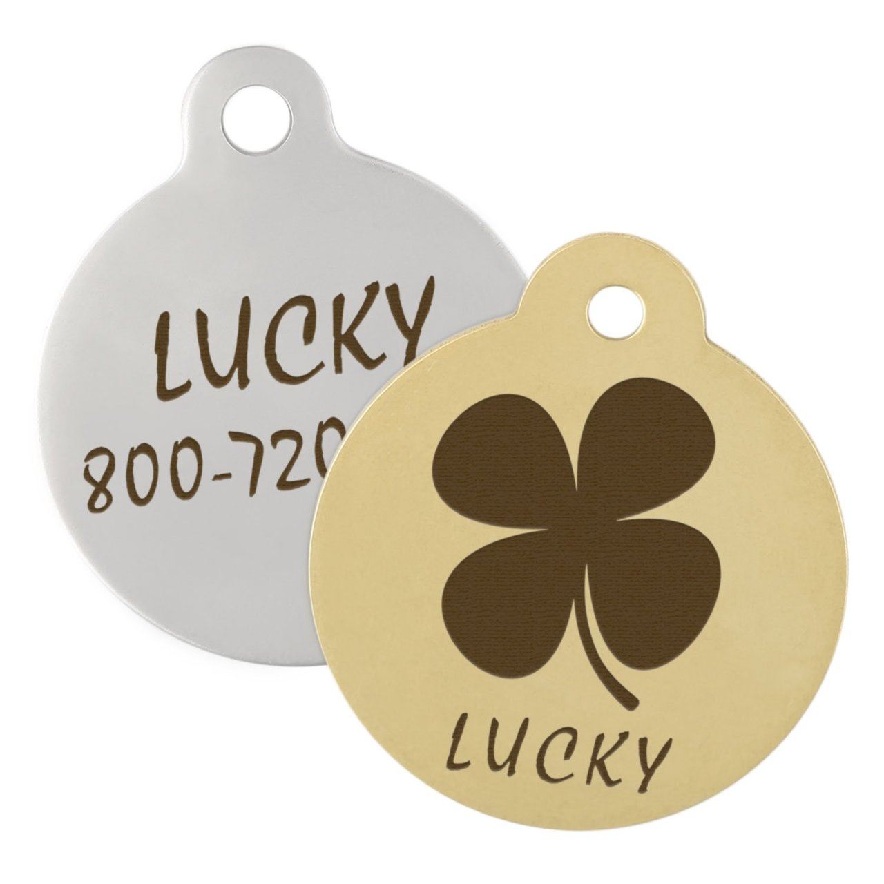 Four Leaf Clover Dog ID Tag