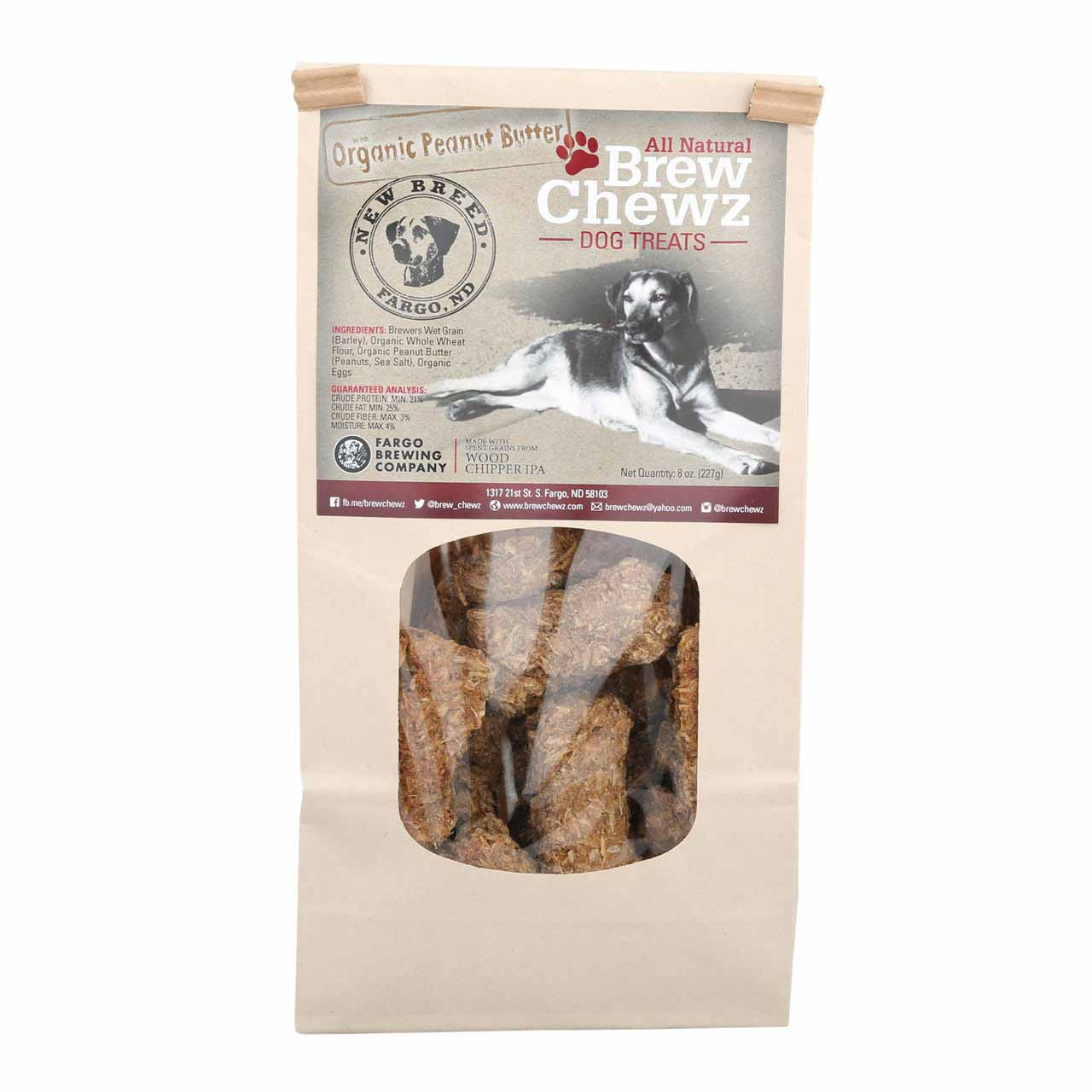 brew chewz organic peanut butter treats