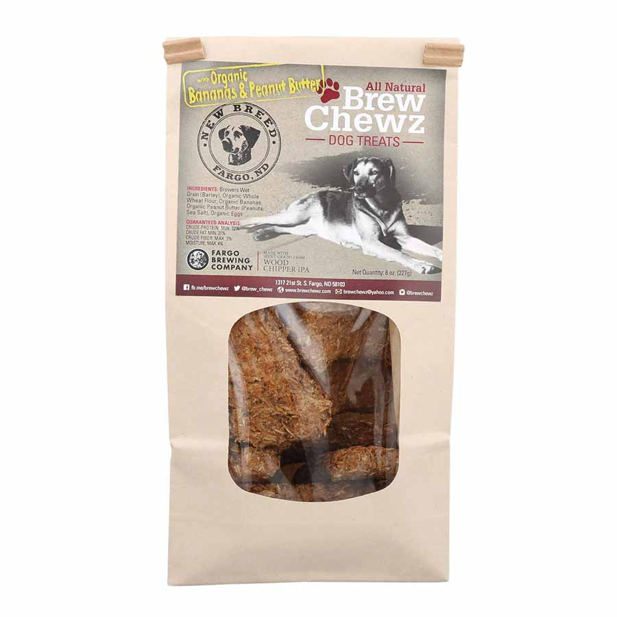 Brew Chewz All Natural Dog Bone Treats-Peanut Butter Banana