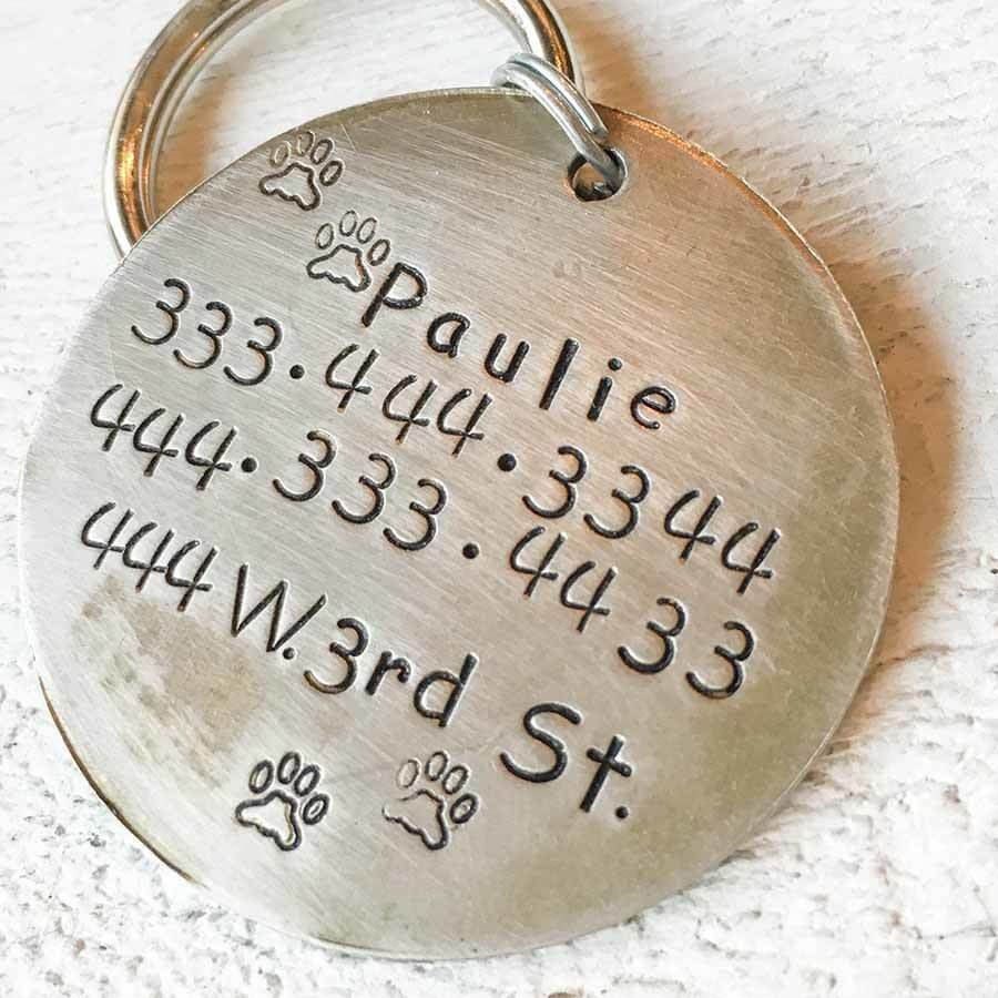 Big Foot Handmade Nickel & Copper Artisan Dog Tag Back