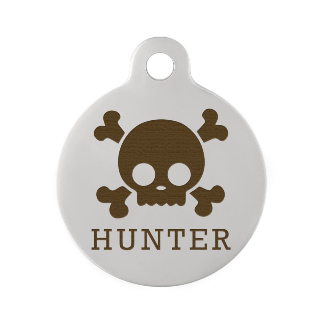 Skull Design Dog ID Tags - Skull Stainless Steel