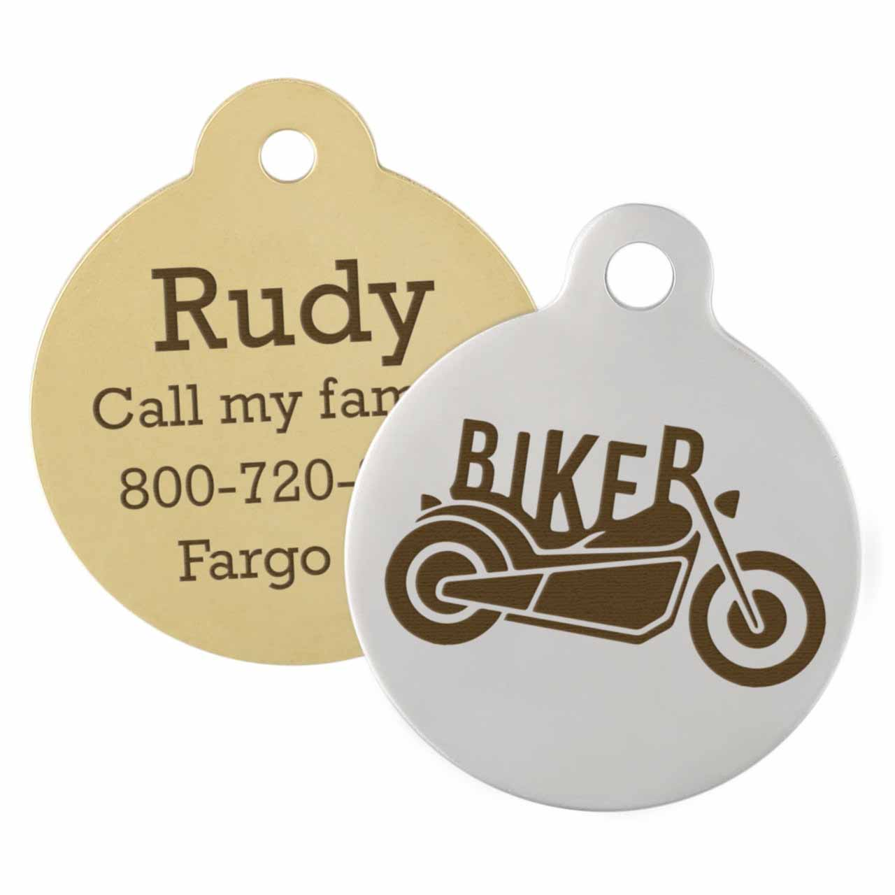 Motorcycle Dog ID Tag