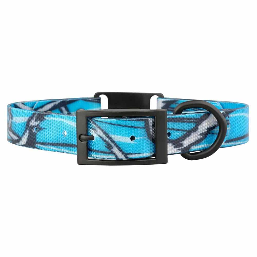 Stealth Personalized Camouflage ScruffTag Dog Collars Blue Buckle View