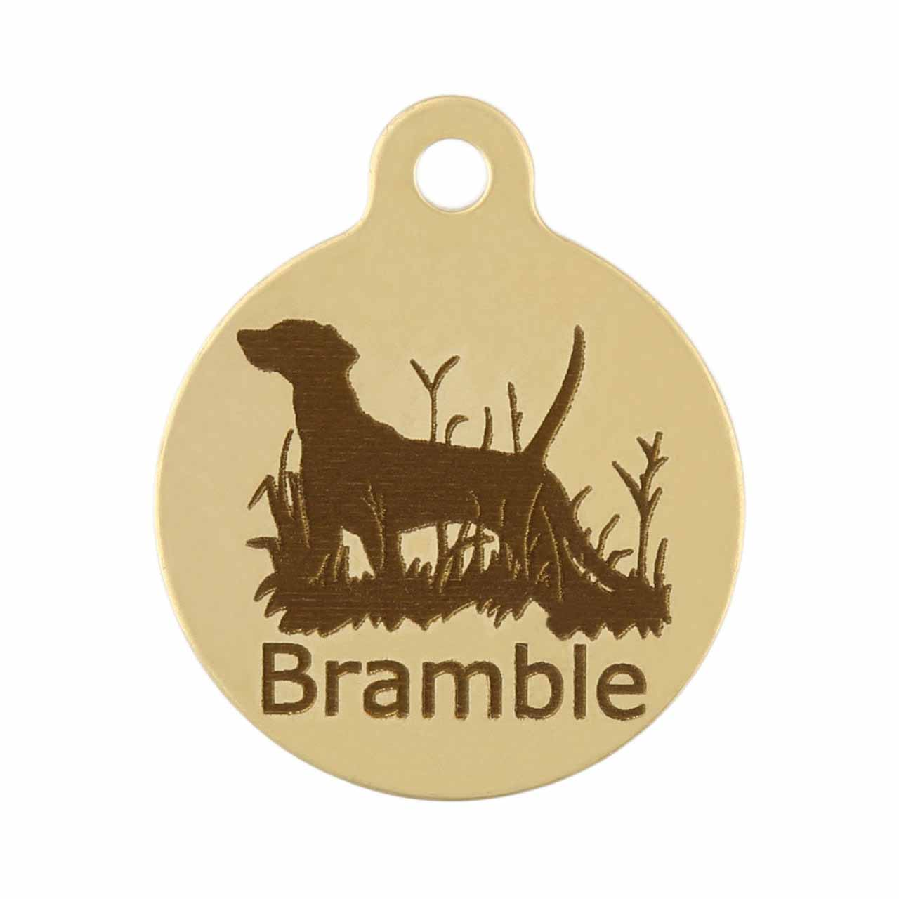 Dog in Field on Brass