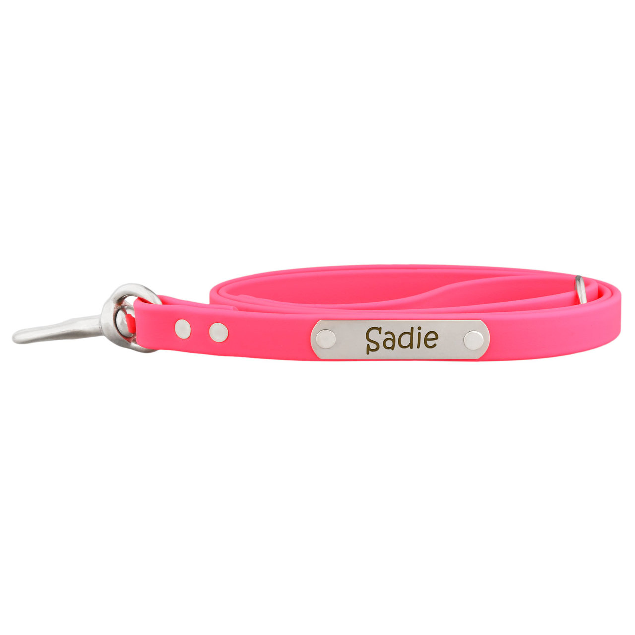 Personalized Waterproof Soft Grip Snap Leash