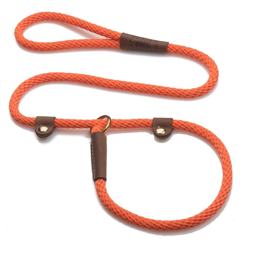 Mendota Braided Handler Slip Lead Orange