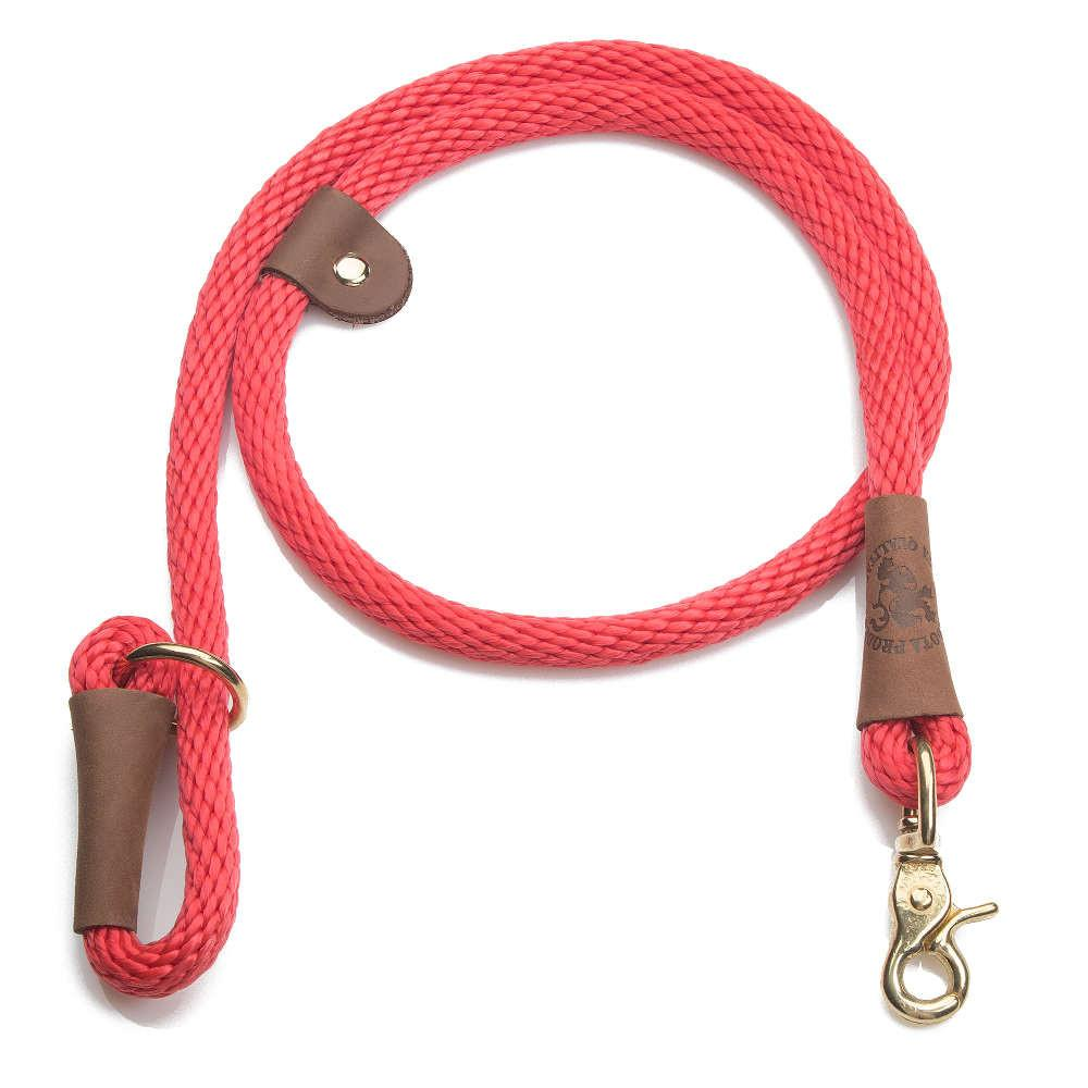 Mendota Braided Quick Lead Red
