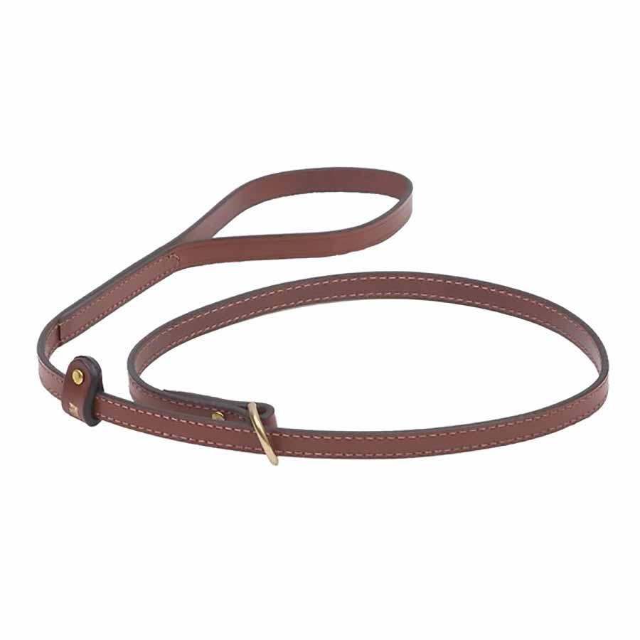 Mendota English Bridle Leather Slip Lead 4 Foot