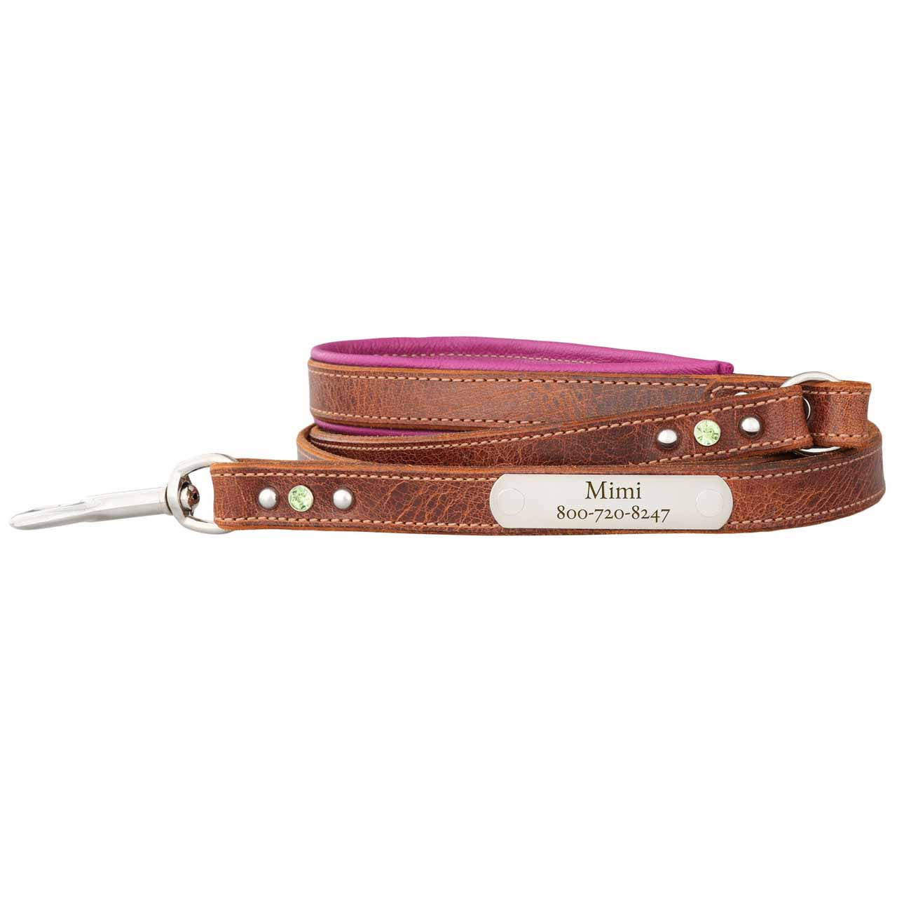 Aurora Artisan Leather Personalized Leash