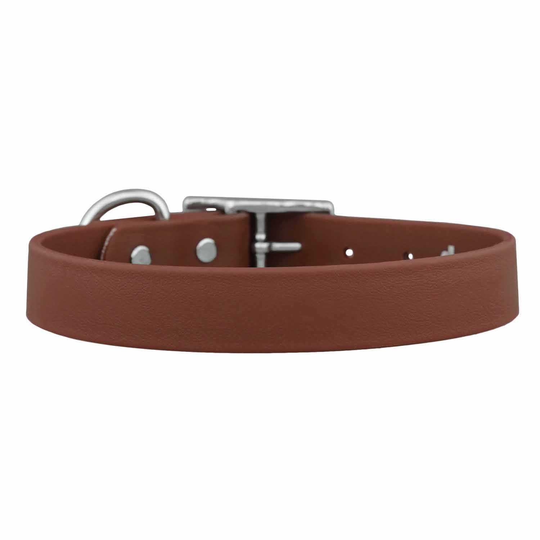 Waterproof Soft Grip Dog Collar Brown