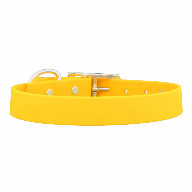 Waterproof Soft Grip Dog Collar Yellow