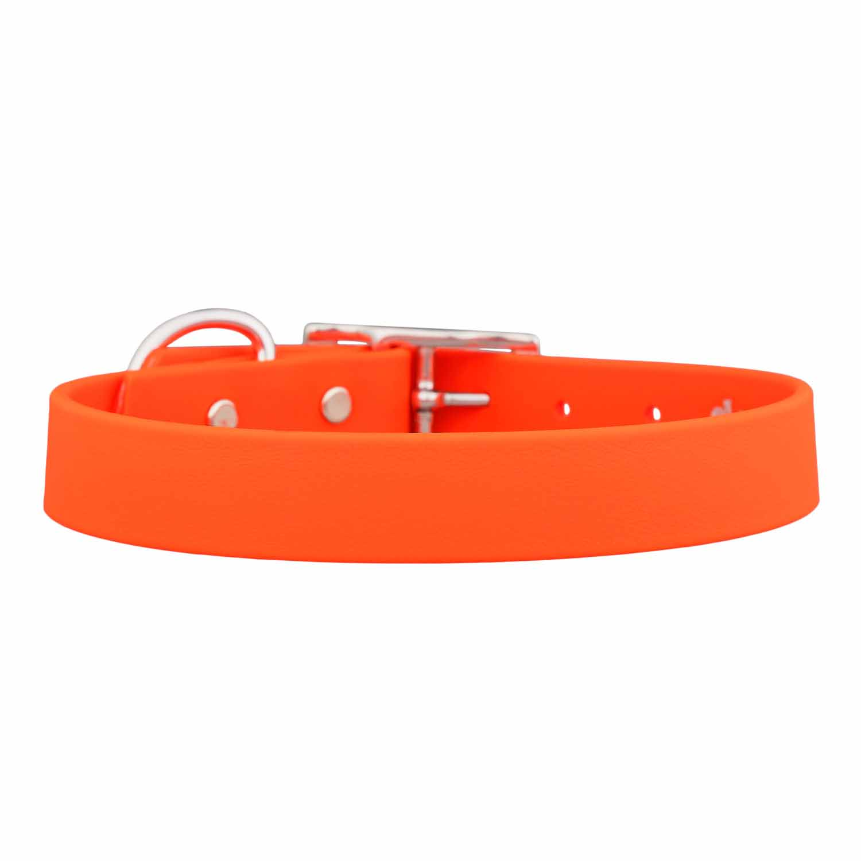 Waterproof Soft Grip Dog Collar Orange
