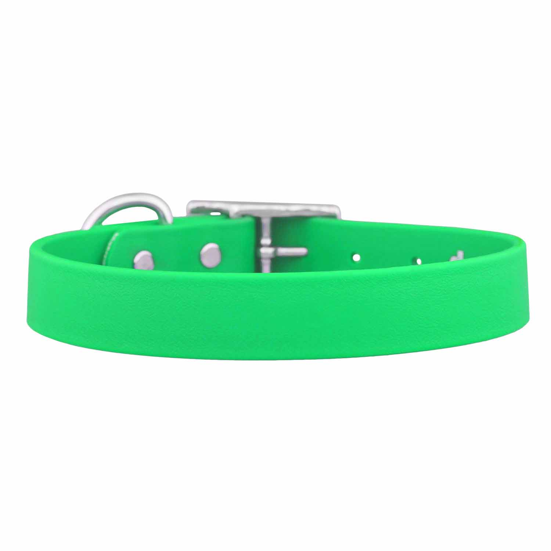 Waterproof Soft Grip Dog Collar Bright Green