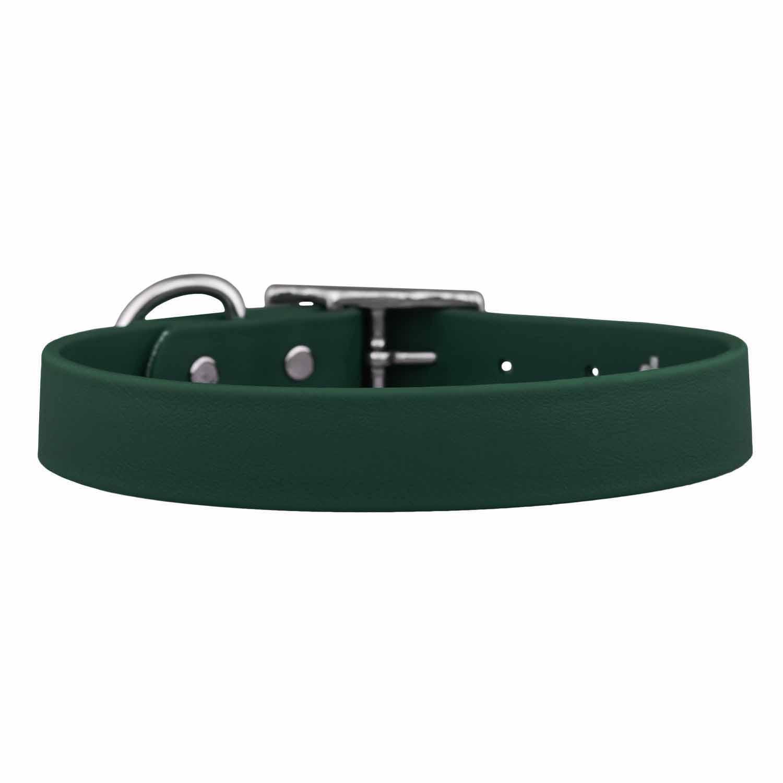 Waterproof Soft Grip Dog Collar Hunter Green