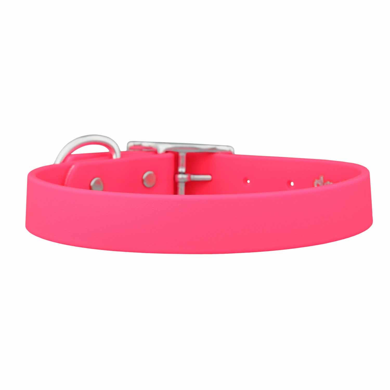 Waterproof Soft Grip Dog Collar Pink