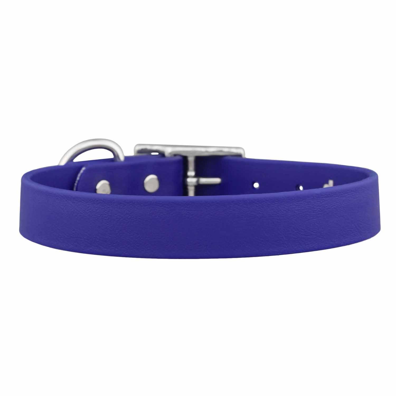 Waterproof Soft Grip Dog Collar Blue