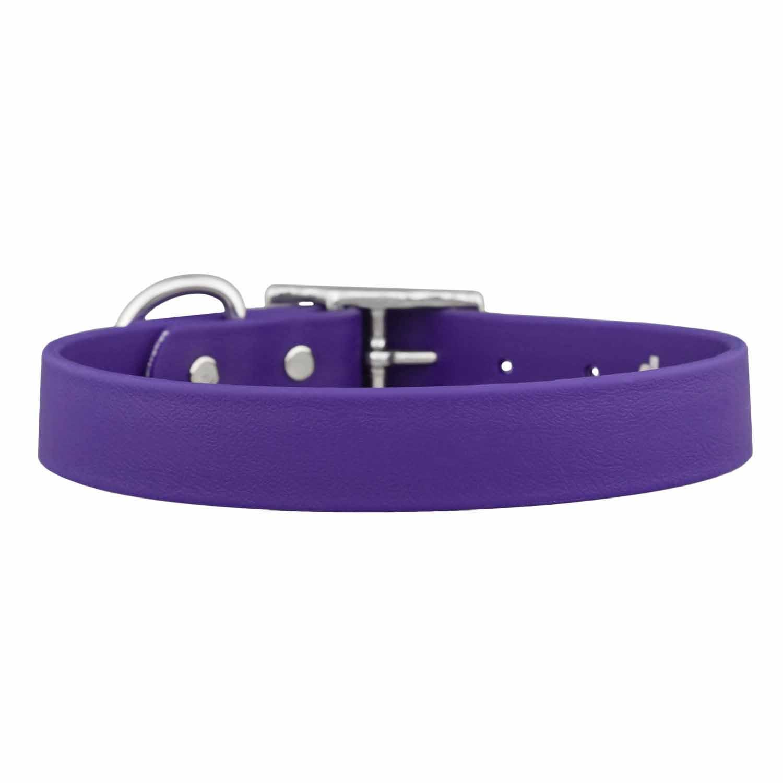 Waterproof Soft Grip Dog Collar Purple