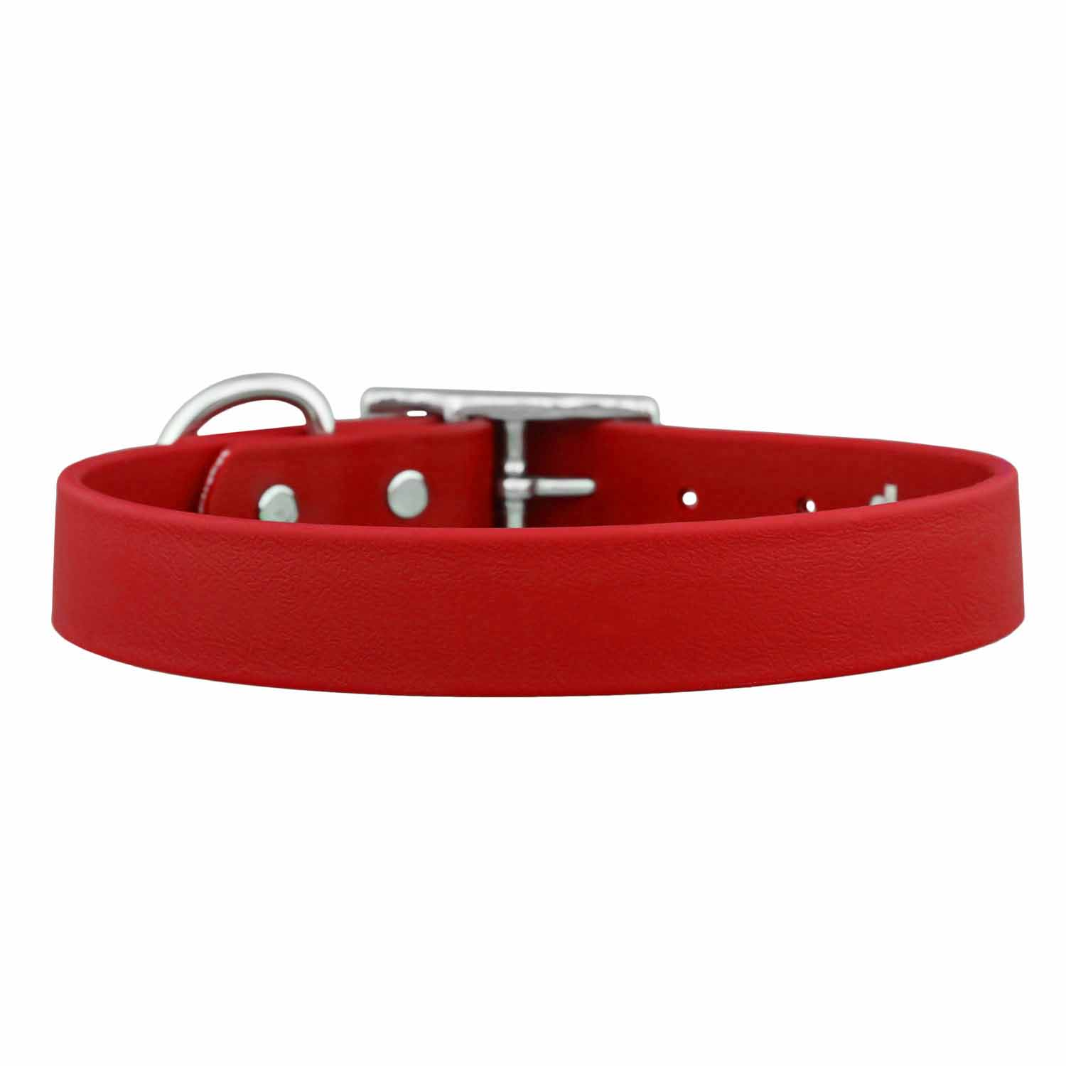 Waterproof Soft Grip Dog Collar Red