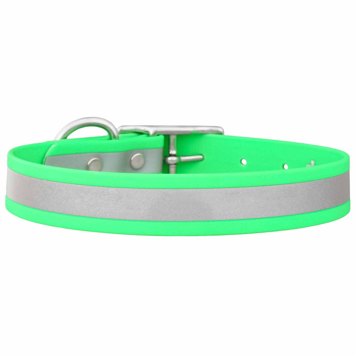 Reflective Waterproof Dog Collar Green