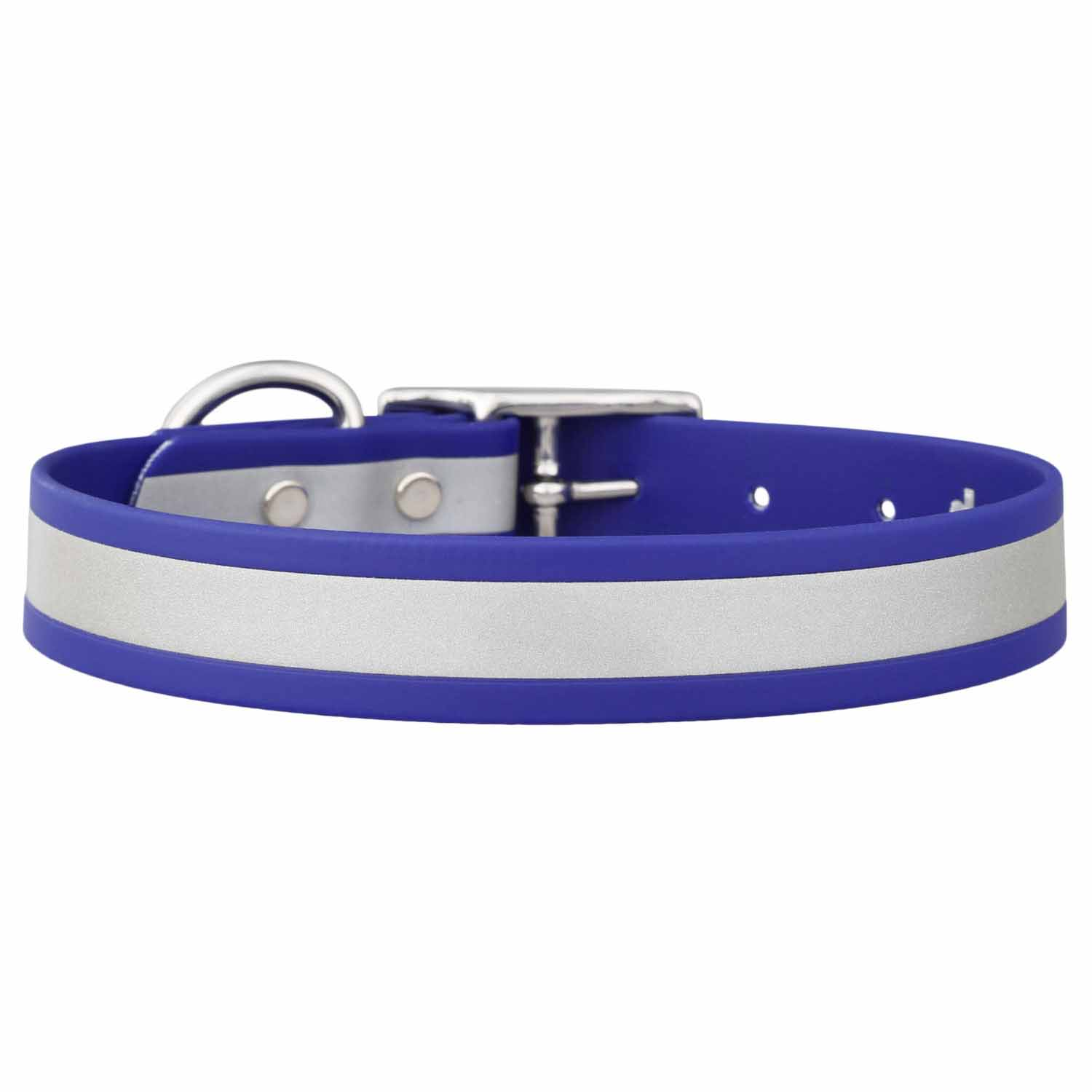 Reflective Waterproof Dog Collar Blue