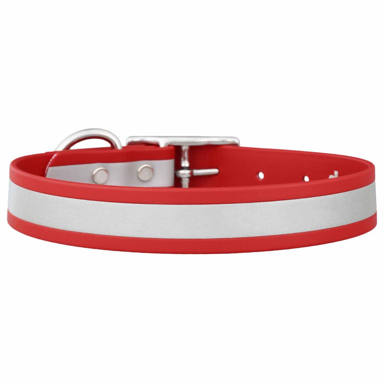 Reflective Waterproof Dog Collar Red