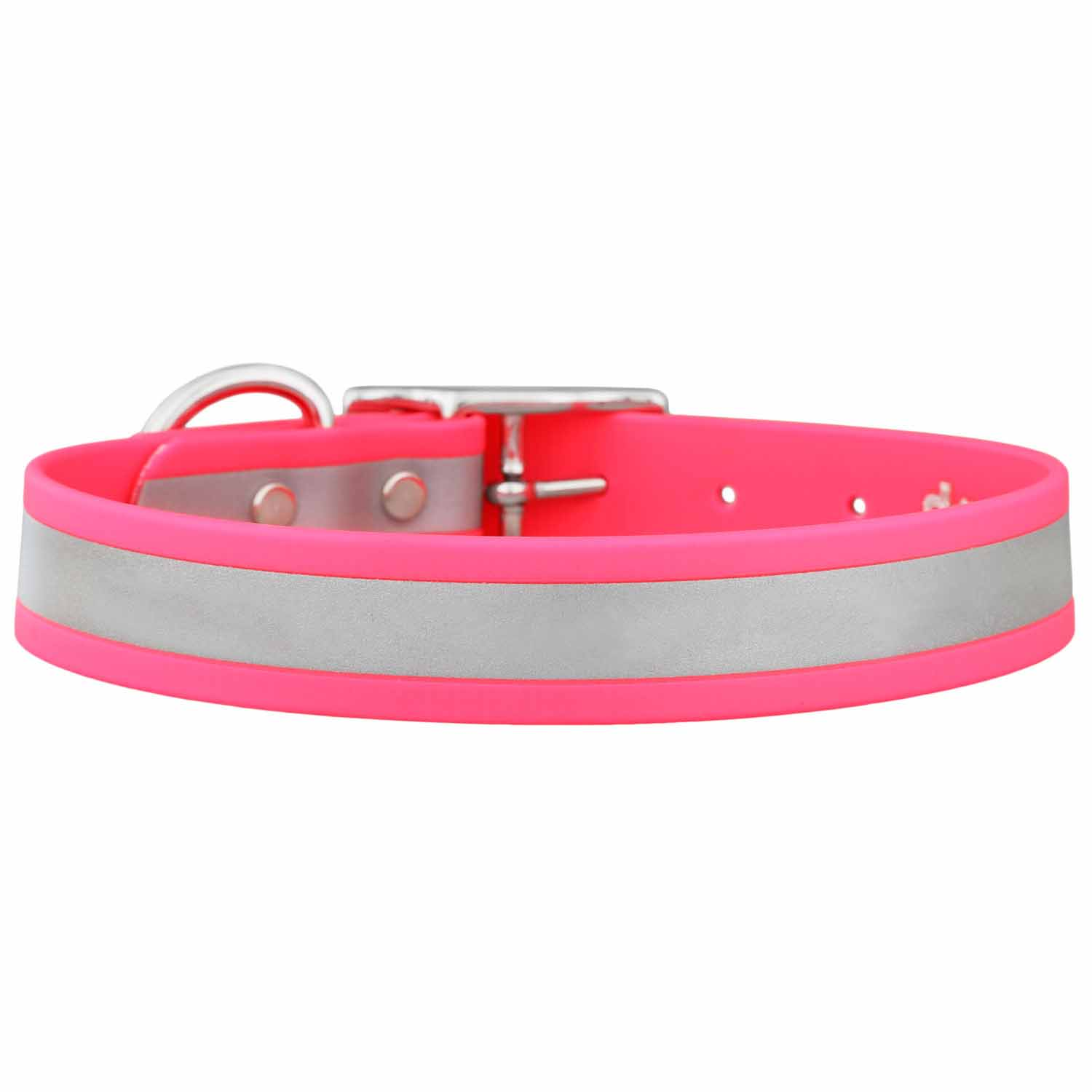Reflective Waterproof Dog Collar Pink