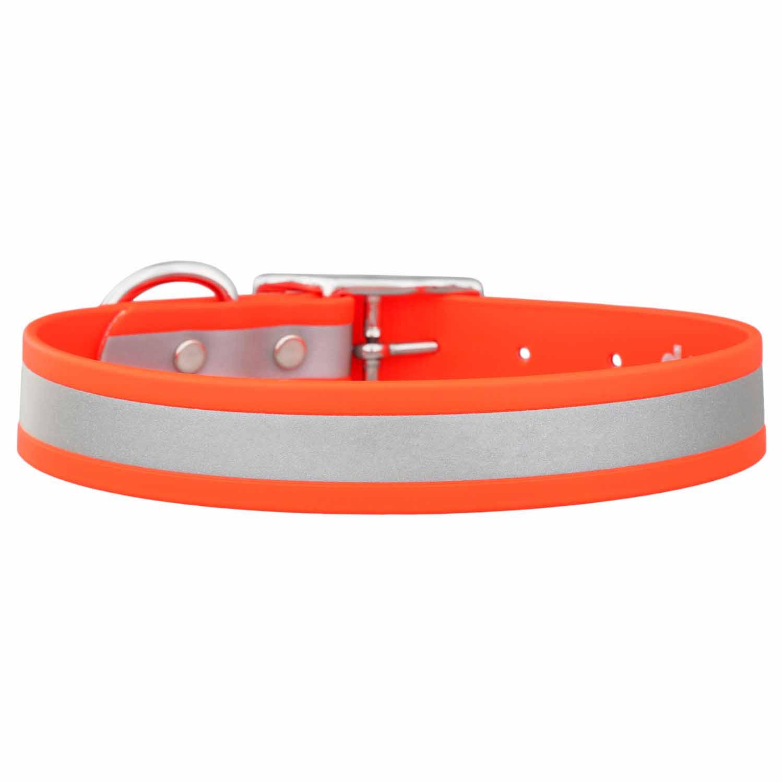 Reflective Waterproof Dog Collar Orange